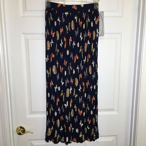 Stonebridge Butterfly Print Pleated Maxi Skirt